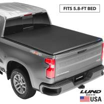 "Lund Genesis Tri-Fold, Soft Folding Truck Bed Tonneau Cover | 950192 | Fits 2014 - 2018, 19 Legacy/Limited GMC/Chevy Sierra/Silverado 5' 9"" Bed (69.3"")"