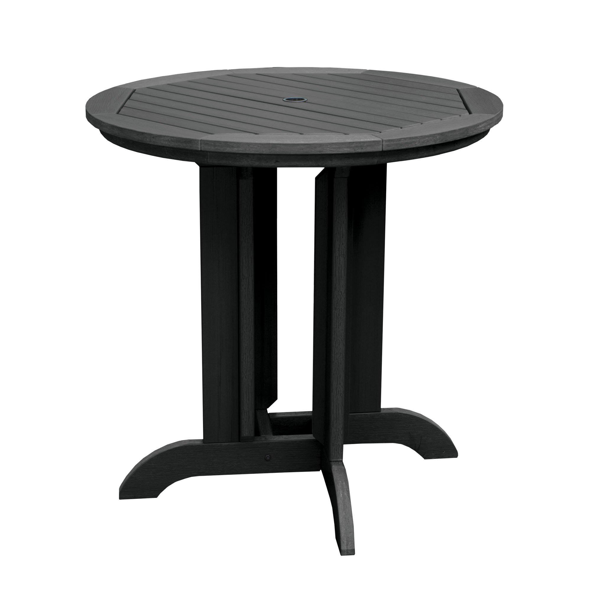 "Highwood Adirondack Round Counter Height Dining Table, 36"", Black"