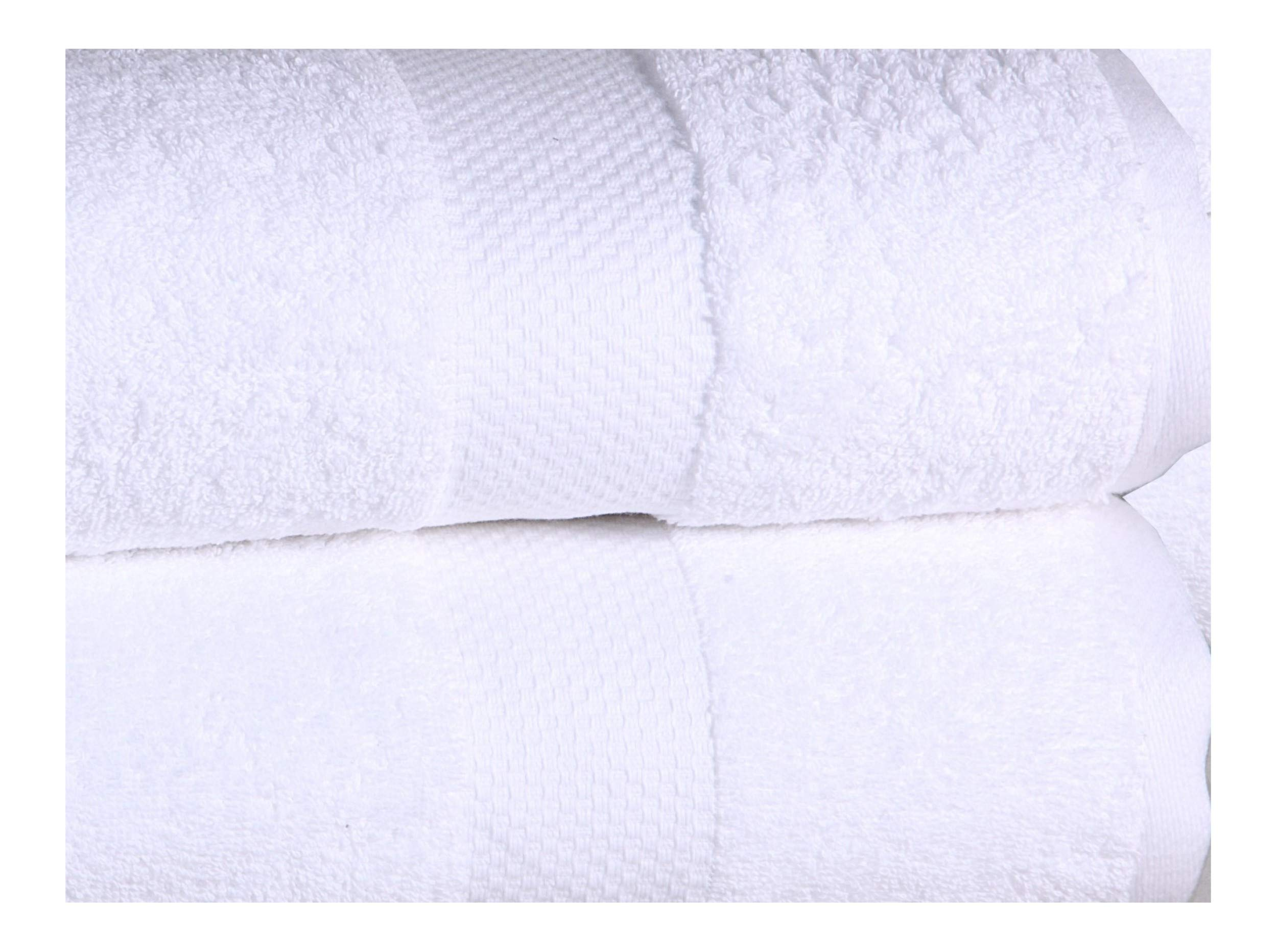 ISABELLA CROMWELL 100% Cotton 4 Oversized Bath Sheets Low Twist Extra Large Soft Highly Absorbent Luxury Hotel Spa Quality Towels - White