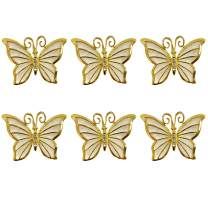 Getfitsoo Napkin Ring, Napkin Holder for Wedding Valentine's Day Christmas Party Dinner Table Decor 6 Pcs (Butterfly)