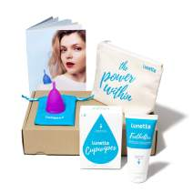 Lunette Menstrual Cup Kit - Violet - Reusable Model 2 Menstrual Cup for Normal to Heavy Flow + Cleansers