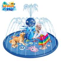 "Blasland Sprinkler for Kids - Octopus Sprinkler Splash Mat 67"", Kids Pool, Outdoor Lawn Water Toys, Splash Pad, Wading Swimming Pool, Inflatable Splash Sprinkler Pad for Toddlers, Boys & Girls"