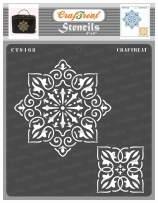 CrafTreat Indian Rangoli Stencils for Diwali Floor - Rangoli Stencils Reusable - 6x6 Inches - DIY Art and Craft Stencils - Rangoli Diwali Stencil - Rangoli Stencils Diwali