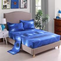 Mengersi 3D Star Galaxy Bed Sheet Set -Kids Boys Girls Bed Sheets - Extra Soft - Deep Pockets - 1 Fitted Sheet, 1 Flat, 1 Pillow Cases - 3 Piece (Twin, A)