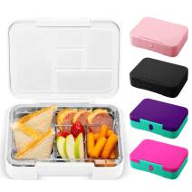 Simple Modern Porter Bento Lunch Box for Kids - Leakproof Divided Container with 5 compartments for Toddlers, Men, and Women -Winter White