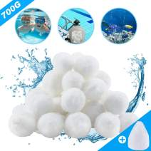 Aitsite 1.5 lbs Pool Filter Balls Eco-Friendly Fiber Filter Media for Swimming Pool Sand Filters (Equals 50 lbs Pool Filter Sand)