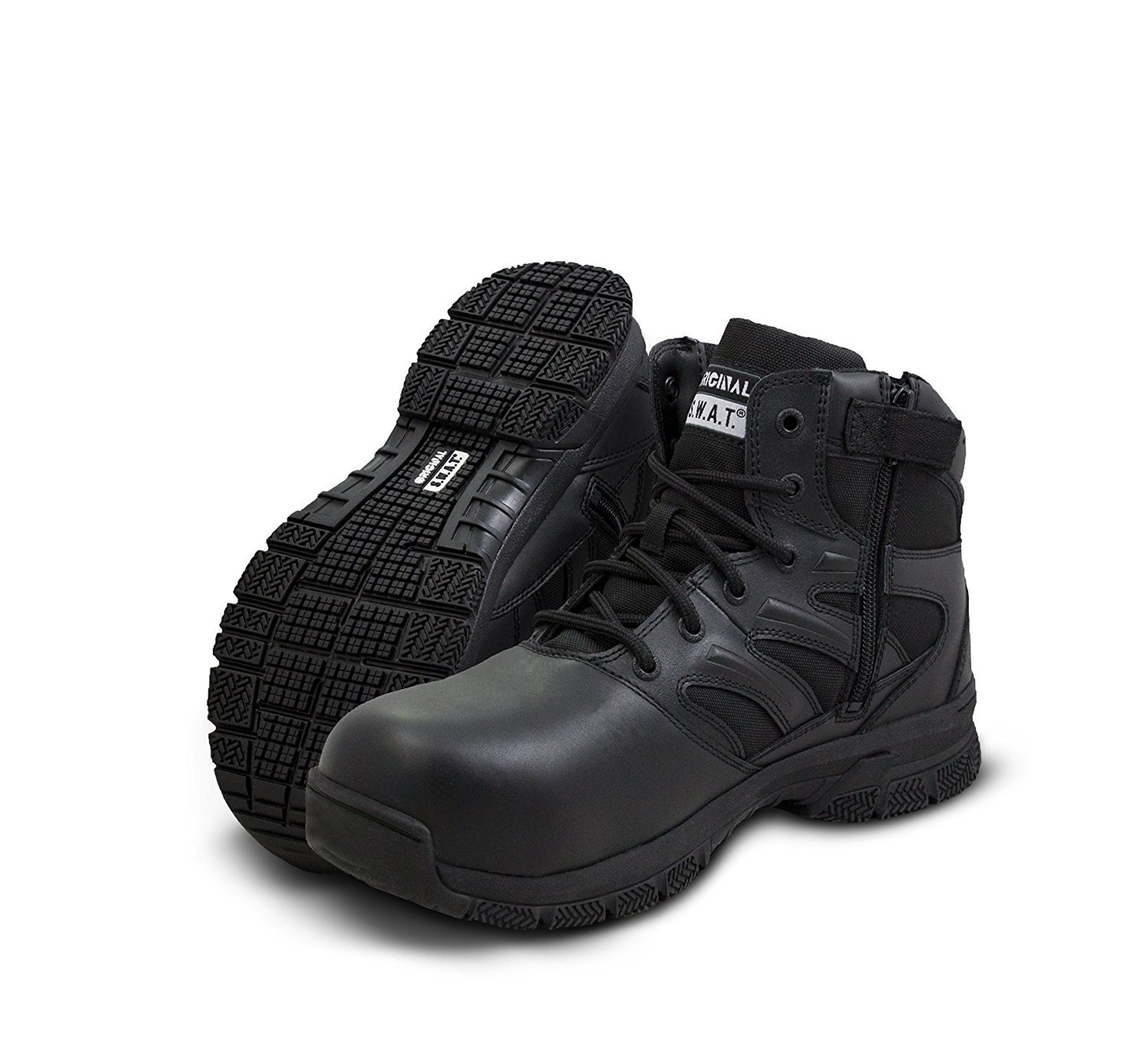 "Original S.W.A.T. Force 6"" Side Zip Safety Men's Tactical Boot - Black"