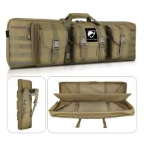 """Feastoria Double Long Soft Rifle Case, American Classic Durable Tactical Carbine Rifle Bag & Multi-Function Gun Bag, Perfect for Rifle and Pistol Storage or Transportation,Available Length in 36"""" 42"""""""
