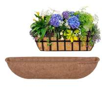 Long Arc Shape Fiber Liners Replacement, 36 inch Coconut Liner for Wall Hanging Flower Pot Garden Balcony Basket Planters