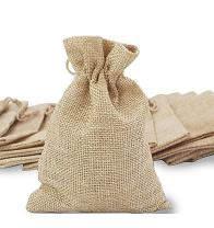 50Pcs Burlap Bags, Mini Gift Bag Jewelry Pouches Packing Storage Candy Bags Favor Jute Sacks for Wedding Party Birthday Shower Jewelery DIY Craft with Drawstring, 5.0 x 4.0 inch