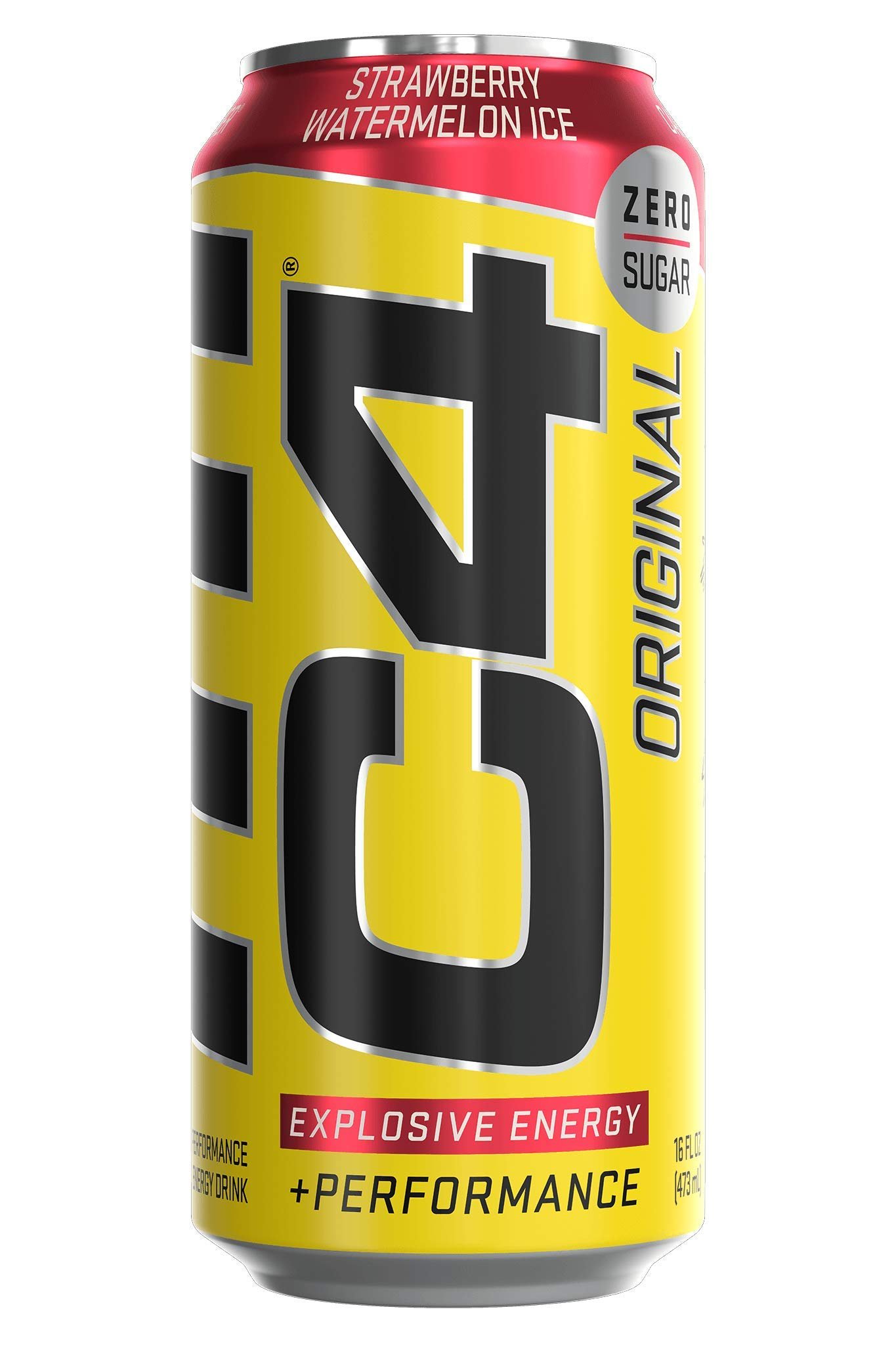 C4 Original Sugar Free Sparkling Energy Drink Strawberry Watermelon Ice   Pre Workout Performance Drink with No Artificial Colors or Dyes   16oz (Pack of 12)