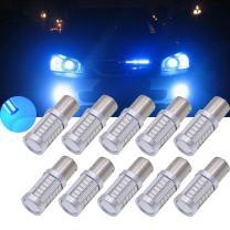 TUINCYN BAU15S PY21W LED Bulb Blue Brake Light Bulb Super Bright 8000K 5630 33SMD 1156 7507 12496 5009 7507AST Turn Signal Light Back Up Reverse Light Parking Light DC 12V (Pack of 10)