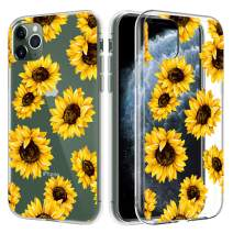 Caka Clear Case for iPhone 11 Pro Max Clear Flower Case Sunflower Floral for Girls Women Slim Flexible Premium Clarity Soft TPU Flower Case for iPhone 11 Pro Max (6.5 inch)(Sunflower)