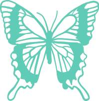 Butterfly Vinyl Decal - 8 Inches - For Cars, Trucks, Windows, Laptops, Tablets, Outdoor-Grade 2.5mil Thick Vinyl - Mint