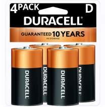 Duracell Coppertop D Batteries, Alkaline, 4 Count