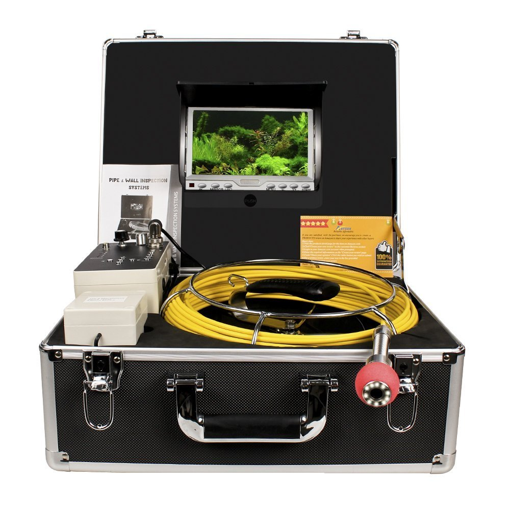 Pipe Sewer Inspection Camera Anysun Waterproof IP68 30m Drain Pipe Sewer Industrial Endoscope Video Inspection System 7inch LCD Monitor 1000TVL Sony CCD DVR Recorder Video Snake Camera