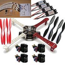 powerday F450 ATF Quadcopter Frame Kit &Sunnysky X2212 980KV Brushless Motor & SimonK 30A ESC&1045 Propeller