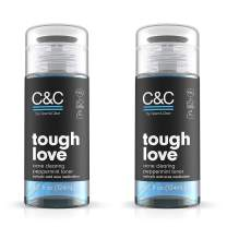 C&C by Clean & Clear Tough Love Acne Clearing Peppermint Facial Toner, With Glycerin and Salicylic Acid, Oil-free Toner for Oil Prone Skin, Not Tested on Animals, 4.2 fl. oz. (Pack of 2)