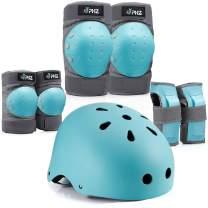 PHZ. Kids Adults Bike Helmet Adjustable Helmet for Toddler Child Youth Adult, Knee Pads Elbow Pads Wrist Guards Kids Protective Gear Set for Multi Sports Scooter, Skateboarding, Biking, Roller Skating
