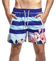 Satankud Mens Swim Trunks Quick Dry Boardshorts Beach Shorts with Lining