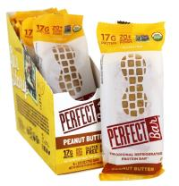 Perfect Bar Original Refrigerated Protein Bar, Peanut Butter, 2.5 Ounce Bar, 8 Count