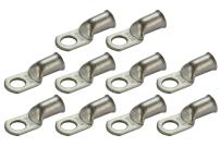 """TEMCO 10 Pack Tinned Copper Welding Battery Cable Ends, Lugs Terminal 2/0 AWG 1/2"""" Hole - Marine Grade"""