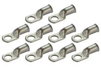 "TEMCO 10 Pack Tinned Copper Welding Battery Cable Ends, Lugs Terminal 2/0 AWG 1/2"" Hole - Marine Grade"