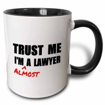 3dRose Trust Me I'M Almost A Lawyer - Fun Law Humor - Funny Student Gift Mug, 11oz, Black