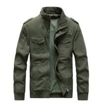 ZooYung Men's Cotton Lightweight Jackets Casual Military Jackets Outdoor Windproof Windbreaker