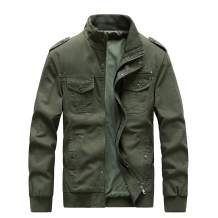 ZooYung Men's Cotton Lightweight Jackets Casual Military Coat