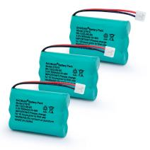 BAOBIAN 27910 Rechargeable Cordless Phone Battery Compatible with V-Tech 89-1323-00-00 Vtech 27910 I6725 Motorola SD-7501 RadioShack 23-959 (3 Pack 27910 Battery)