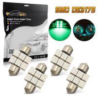 Partsam 4PCS Green 31mm Festoon 6SMD 5050 LED Interior Dome Map Light Lamp Bulbs 3021 3022 DE3175