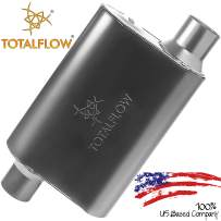 """TOTALFLOW 415043 Two-Chamber Universal Muffler - 3"""" Offset In / 3"""" Offset Out"""