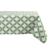 """DII Cotton Tablecloth for for Dinner Parties, Weddings & Everyday Use, 52x52"""", Bamboo Lattice"""