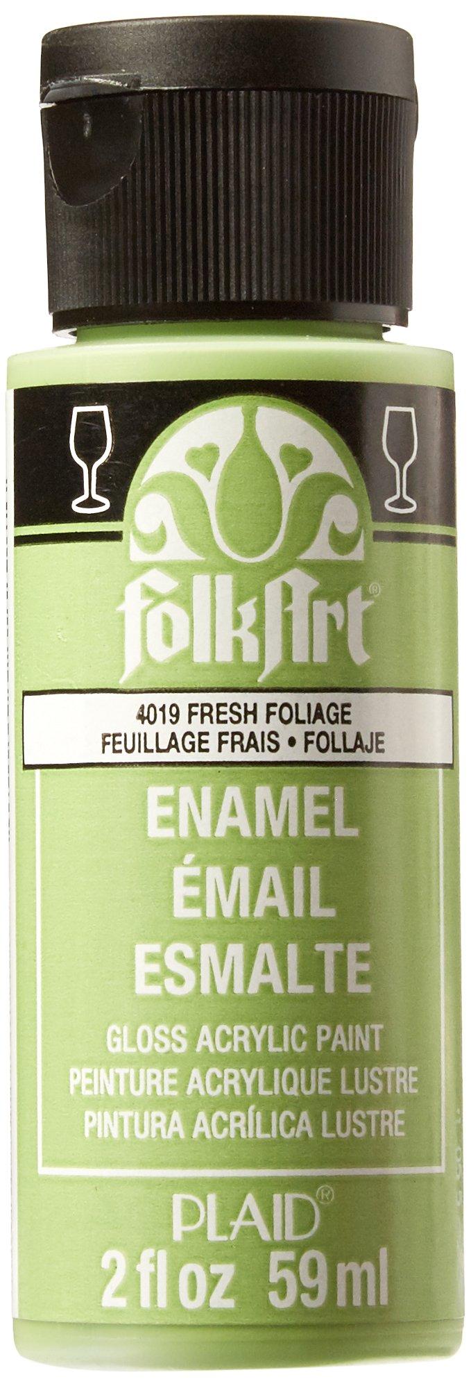 FolkArt Enamel Glass & Ceramic Paint in Assorted Colors (2 oz), 4019, Fresh Foliage