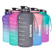 Venture Pal Half Gallon Motivational Water Bottle with Time Marker - Big 64oz Leakproof Daily Water Intake Tracker to Ensure You Drink Enough Water Throughout The Day
