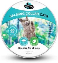 SOBAKEN Calming Collar for Cat - Reduce Anxiety or Aggression - Natural Pheromones Formula for Kittens and Grown Cats - Waterproof - 15 inch