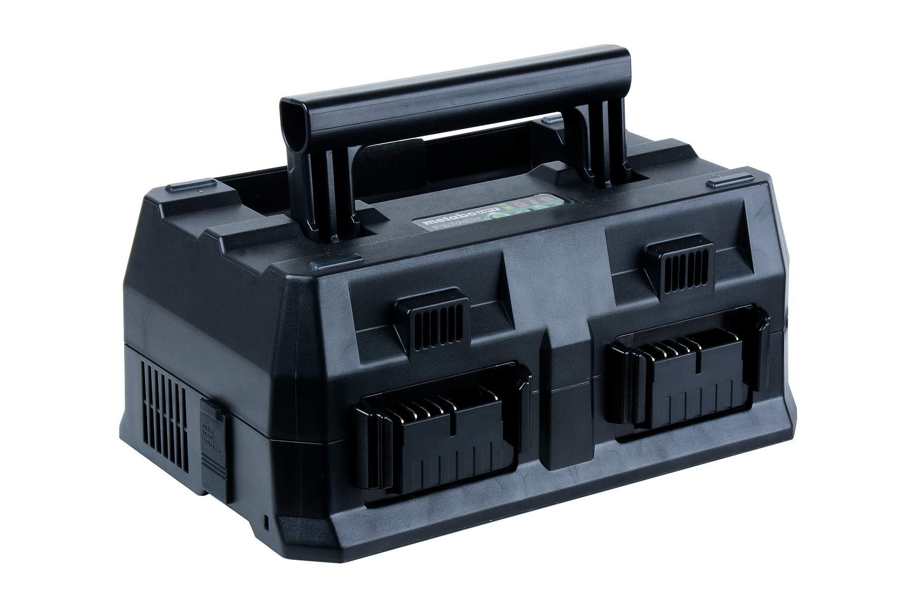 Metabo HPT 4-Port Battery Charger, 36V/18V, Slide-Style Batteries, Rapid Charging Time, Selectable Charging Modes, 2 USB Ports, 2 AC Outlets (UC18YTSL)