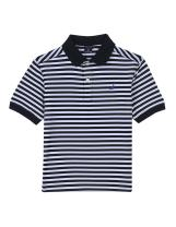 Nautica Boys' Short Sleeve Striped Performance Polo Shirt