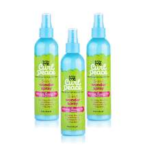 Just for Me Curl Peace 5-In-1 Wonder Spray (3 Pack) - Detangles, Nourishes, Heat-Protects, Reduces Frizz, Adds Shine, Contains Flaxseed, Avocado Oil, Castor Oil, No Animal Testing, 8 oz