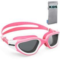Kids Swim Goggles, OMID P2 Comfortable Polarized Unisex-child Swimming Goggles, Anti-Fog Swim Goggles for Children Age 6-14