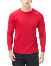 TSLA 1 or 2 Pack Men's Rashguard Swim Shirts, UPF 50+ Loose-Fit Long Sleeve Shirts, Cool Running Workout SPF/UV Tee Shirts