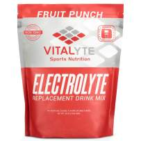 Vitalyte Natural Electrolyte Powder Drink Mix, Gluten Free, 40 2 Cup Servings Per Container (FRUITPUNCH-Pouch)