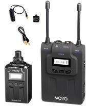 Movo WMIC80 UHF Wireless Handheld Microphone System with Plug-in XLR Transmitter, Portable Receiver, Shoe Mount for DSLR Cameras (330' Range)