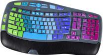 Keyboard Cover for Logitech MK550 K350 MK570, Ultra Thin Keyboard Skin for Logitech K350 MK550 MK570 Keyboard Cover Protector, Logitech K350 MK550 MK570 Accessories, Rainbow