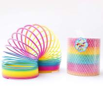Fun Central 7 Inch Jumbo Rainbow Magic Spring Toy Party Favors for Kids & Toddlers