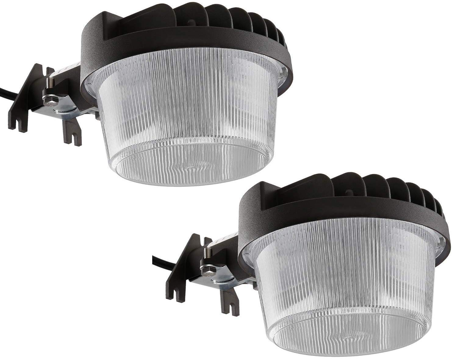 TORCHSTAR 40W LED Outdoor Barn Light Dusk-to-Dawn Security Area Lights with Photocell, Wet Location Yard Floodlight Fixture, 3000K Warm White, 100-277V, ETL-Listed, 5-Year Warranty, Pack of 2
