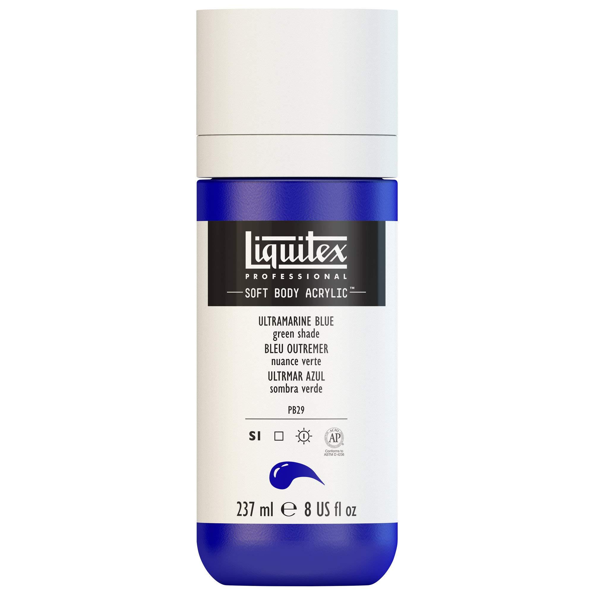 Liquitex Professional Soft Body Acrylic Paint 8-oz bottle, Ultramarine Blue (Green Shade)