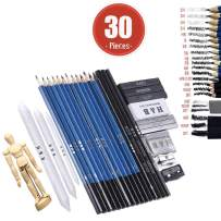Sketching Art Set Drawing Pencils - Kit Sketch Graphite Charcoal Pencil Supplies Sets for Adults Kids Teens