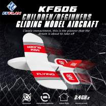 BLACKOBE KFPLAN KF606 2.4Ghz 2CH EPP Mini Indoor RC Airplane Glider Built-in Gyro RTF Easy to Control for Beginners and 14+ Years Old Children Red